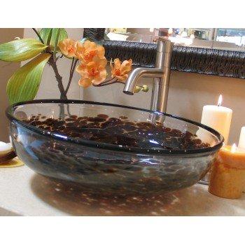 Classic Glass Vessel Sinks - Dark Tortoise Classic Glass Sink